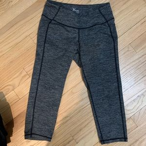 Grey and black striped old navy leggings
